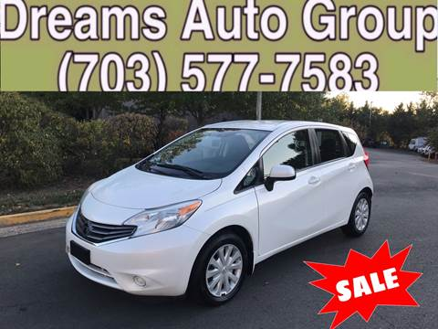 2014 Nissan Versa Note for sale at Dreams Auto Group LLC in Sterling VA