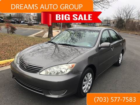 2005 Toyota Camry for sale at Dreams Auto Group LLC in Sterling VA