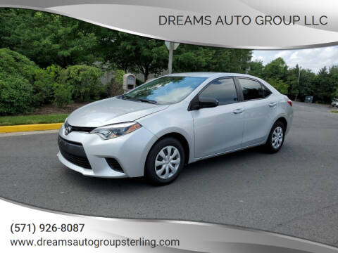 2016 Toyota Corolla for sale at Dreams Auto Group LLC in Sterling VA