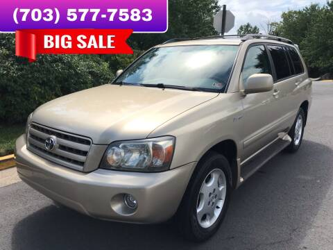 2004 Toyota Highlander for sale at Dreams Auto Group LLC in Sterling VA