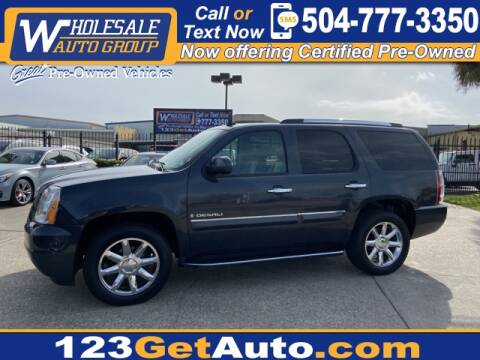 2008 GMC Yukon Denali for sale at WHOLESALE AUTO GROUP in Kenner LA