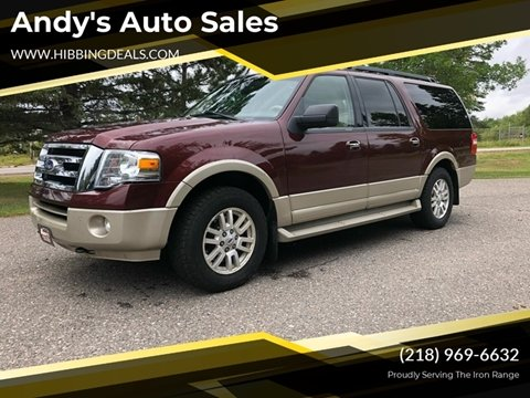 2010 Ford Expedition EL Eddie Bauer for sale at Andy's Auto Sales in Hibbing MN