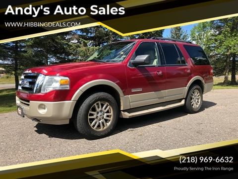 2008 Ford Expedition Eddie Bauer for sale at Andy's Auto Sales in Hibbing MN