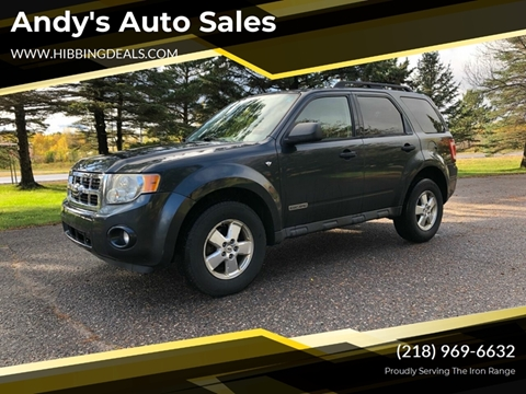 2008 Ford Escape XLT for sale at Andy's Auto Sales in Hibbing MN
