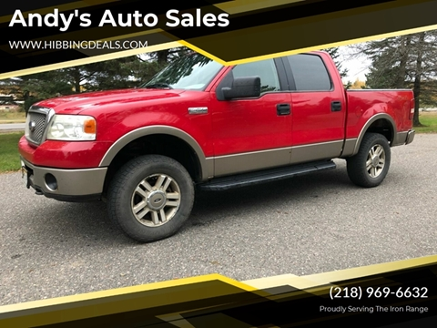 2005 Ford F-150 Lariat for sale at Andy's Auto Sales in Hibbing MN