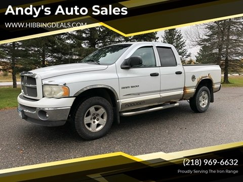 2002 Dodge Ram Pickup 1500 SLT Plus for sale at Andy's Auto Sales in Hibbing MN