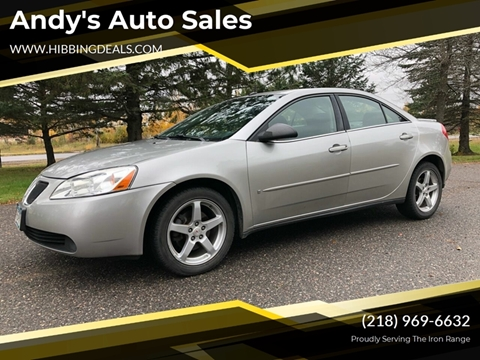 2008 Pontiac G6 for sale at Andy's Auto Sales in Hibbing MN