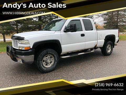 2002 Chevrolet Silverado 2500HD LS for sale at Andy's Auto Sales in Hibbing MN