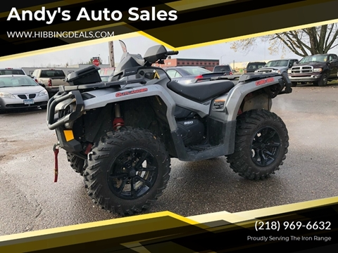 2017 Can Am Outlander for sale at Andy's Auto Sales in Hibbing MN