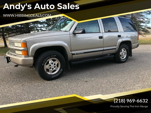 2000 Chevrolet Tahoe Limited/Z71 Z71 for sale at Andy's Auto Sales in Hibbing MN