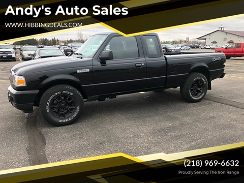 2010 Ford Ranger XLT for sale at Andy's Auto Sales in Hibbing MN