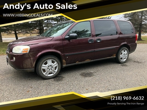 2007 Chevrolet Uplander LS for sale at Andy's Auto Sales in Hibbing MN