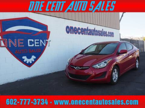 2015 Hyundai Elantra for sale at One Cent Auto Sales in Glendale AZ