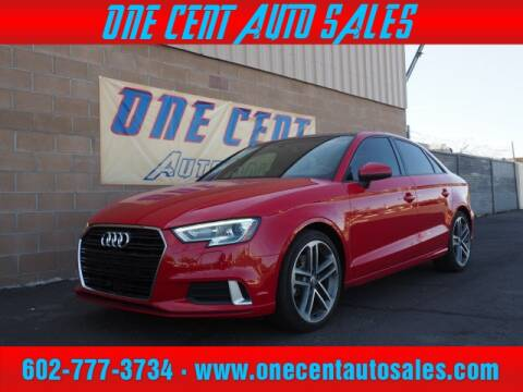 2017 Audi A3 for sale at One Cent Auto Sales in Glendale AZ