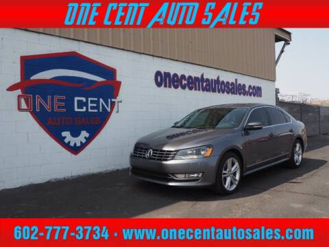2015 Volkswagen Passat for sale at One Cent Auto Sales in Glendale AZ
