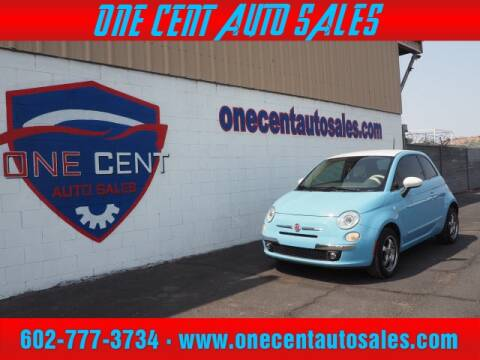 2014 FIAT 500 for sale at One Cent Auto Sales in Glendale AZ