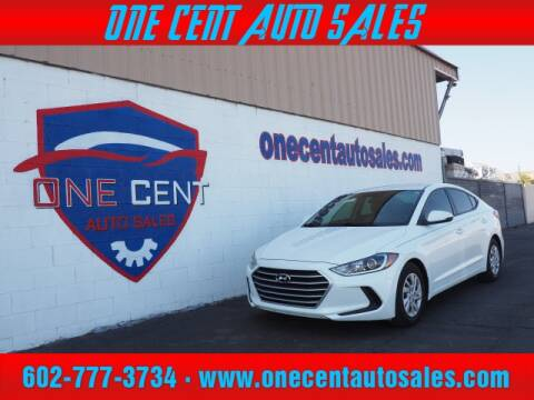 2017 Hyundai Elantra for sale at One Cent Auto Sales in Glendale AZ