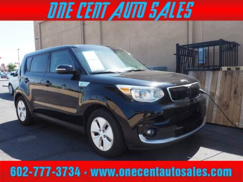 2016 Kia Soul EV for sale at One Cent Auto Sales in Glendale AZ