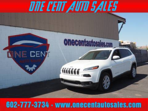 2017 Jeep Cherokee for sale at One Cent Auto Sales in Glendale AZ