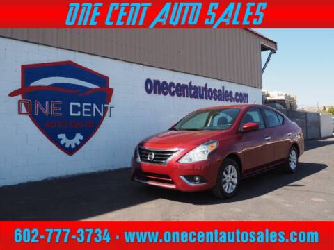 2018 Nissan Versa for sale at One Cent Auto Sales in Glendale AZ