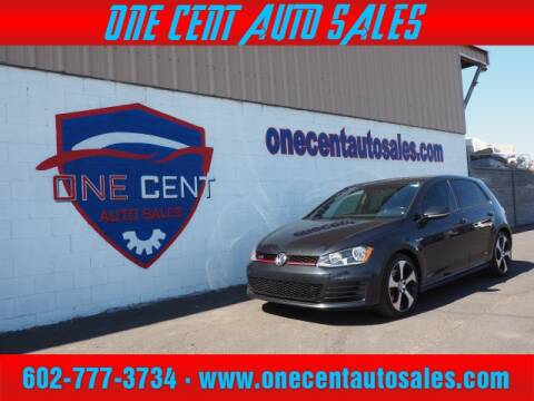 2017 Volkswagen Golf GTI for sale at One Cent Auto Sales in Glendale AZ