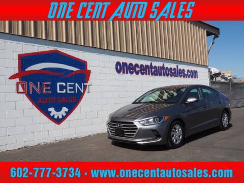 2018 Hyundai Elantra for sale at One Cent Auto Sales in Glendale AZ