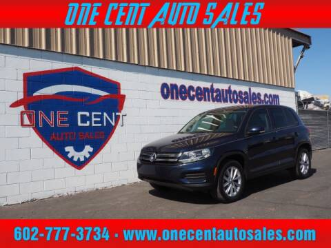 2014 Volkswagen Tiguan for sale at One Cent Auto Sales in Glendale AZ