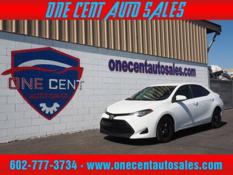 2017 Toyota Corolla for sale at One Cent Auto Sales in Glendale AZ