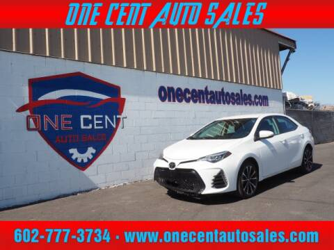 2019 Toyota Corolla for sale at One Cent Auto Sales in Glendale AZ