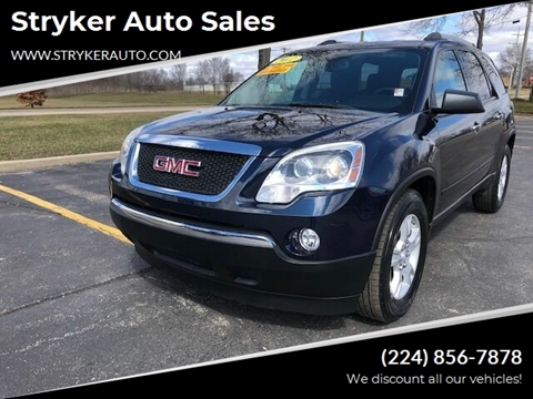2012 GMC Acadia SLE for sale at Stryker Auto Sales in South Elgin IL