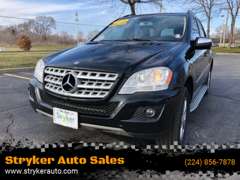 2010 Mercedes-Benz M-Class ML 350 4MATIC for sale at Stryker Auto Sales in South Elgin IL
