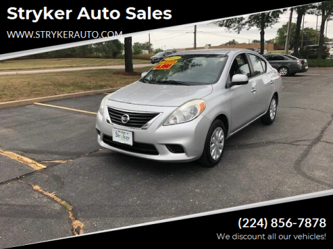 2012 Nissan Versa for sale at Stryker Auto Sales in South Elgin IL