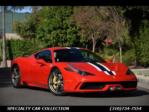 2015 Ferrari 458 Speciale >> 2015 Ferrari 458 Speciale For Sale In West Hollywood Ca