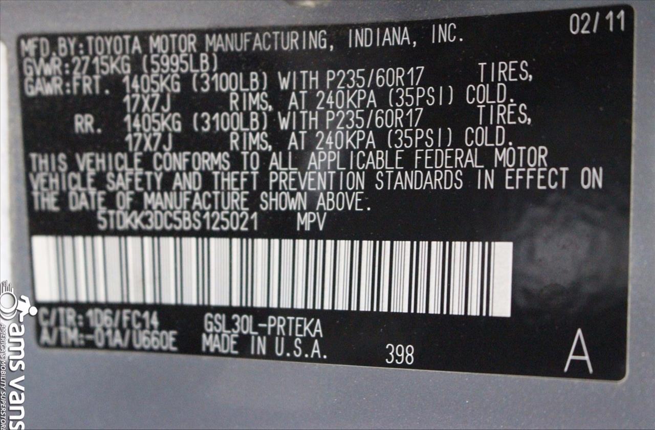 2011 Toyota Sienna for sale at AMS Vans, Inc. in Tucker GA