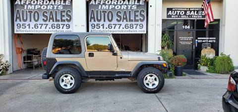 2003 Jeep Wrangler for sale in Murrieta, CA