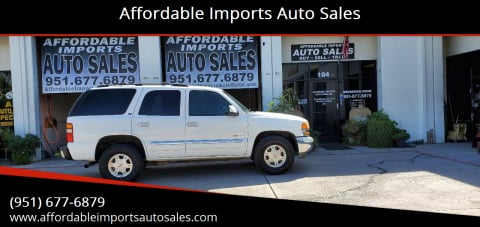 2002 GMC Yukon for sale at Affordable Imports Auto Sales in Murrieta CA