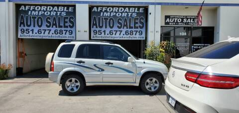 2003 Suzuki Grand Vitara for sale at Affordable Imports Auto Sales in Murrieta CA