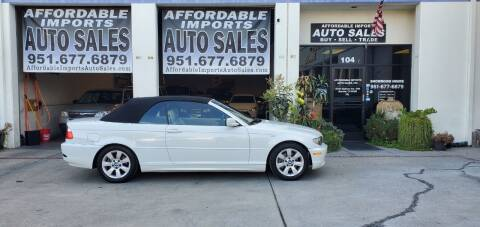 2005 BMW 3 Series for sale at Affordable Imports Auto Sales in Murrieta CA