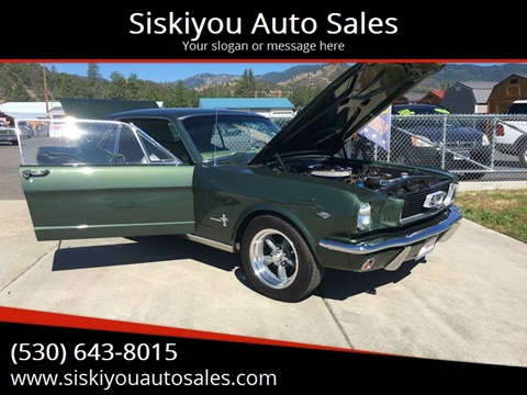 1966 Ford Mustang for sale at Siskiyou Auto Sales in Yreka CA