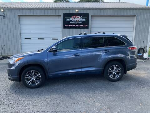 2016 Toyota Highlander for sale at Jack Foster Used Cars LLC in Honea Path SC