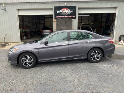 2017 Honda Accord for sale at Jack Foster Used Cars LLC in Honea Path SC