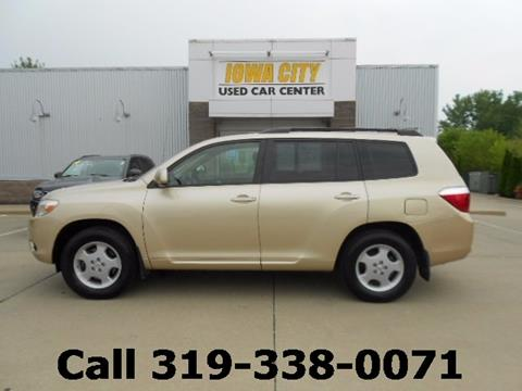 2008 Toyota Highlander for sale in Iowa City IA