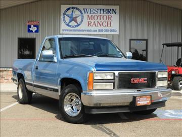 1993 GMC Sierra 1500 for sale at Western Motor Ranch in Amarillo TX