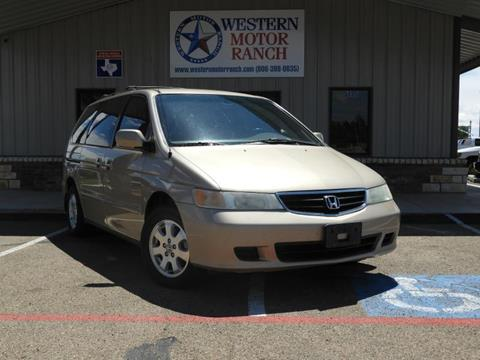 2002 Honda Odyssey for sale at Western Motor Ranch in Amarillo TX