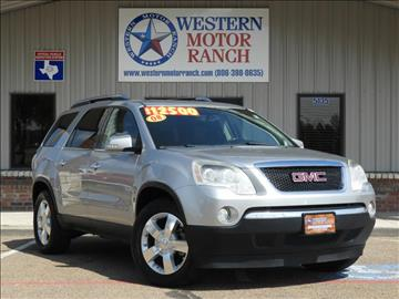 2008 GMC Acadia for sale at Western Motor Ranch in Amarillo TX