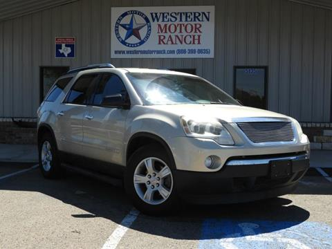2007 GMC Acadia for sale at Western Motor Ranch in Amarillo TX