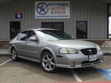 2001 Nissan Maxima for sale at Western Motor Ranch in Amarillo TX