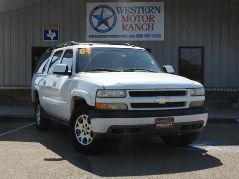 2004 Chevrolet Suburban for sale at Western Motor Ranch in Amarillo TX