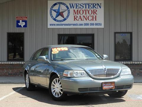2006 Lincoln Town Car for sale at Western Motor Ranch in Amarillo TX