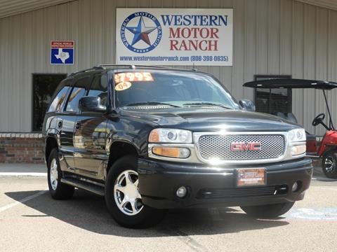 2004 GMC Yukon for sale at Western Motor Ranch in Amarillo TX